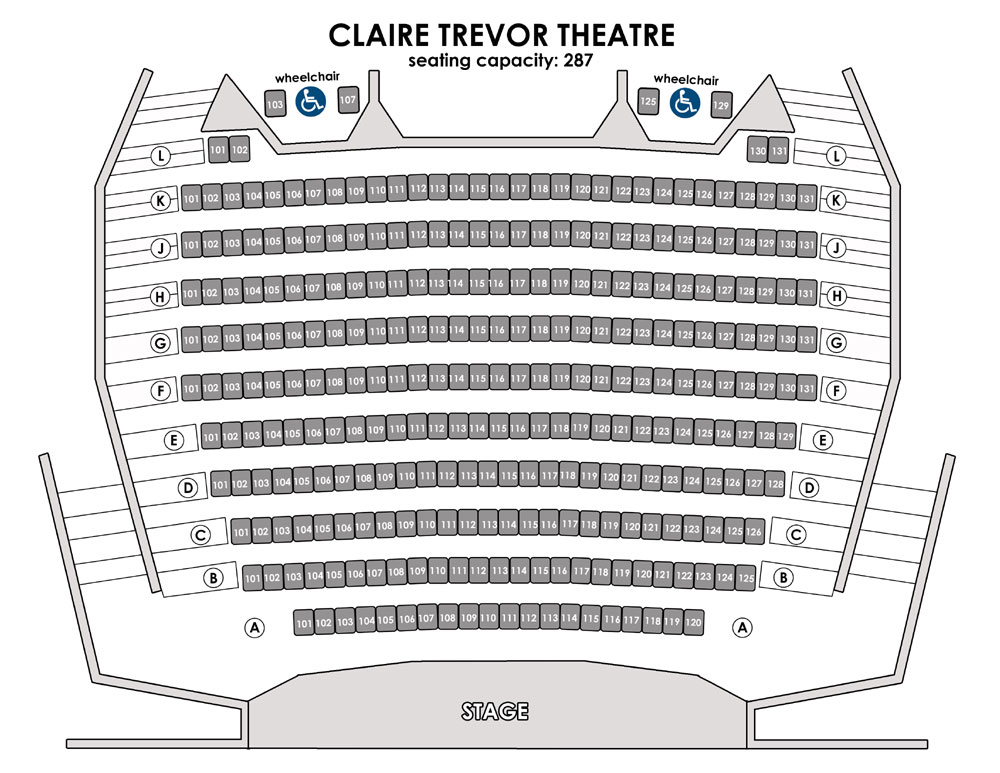Claire Trevor Theare Seating Plan
