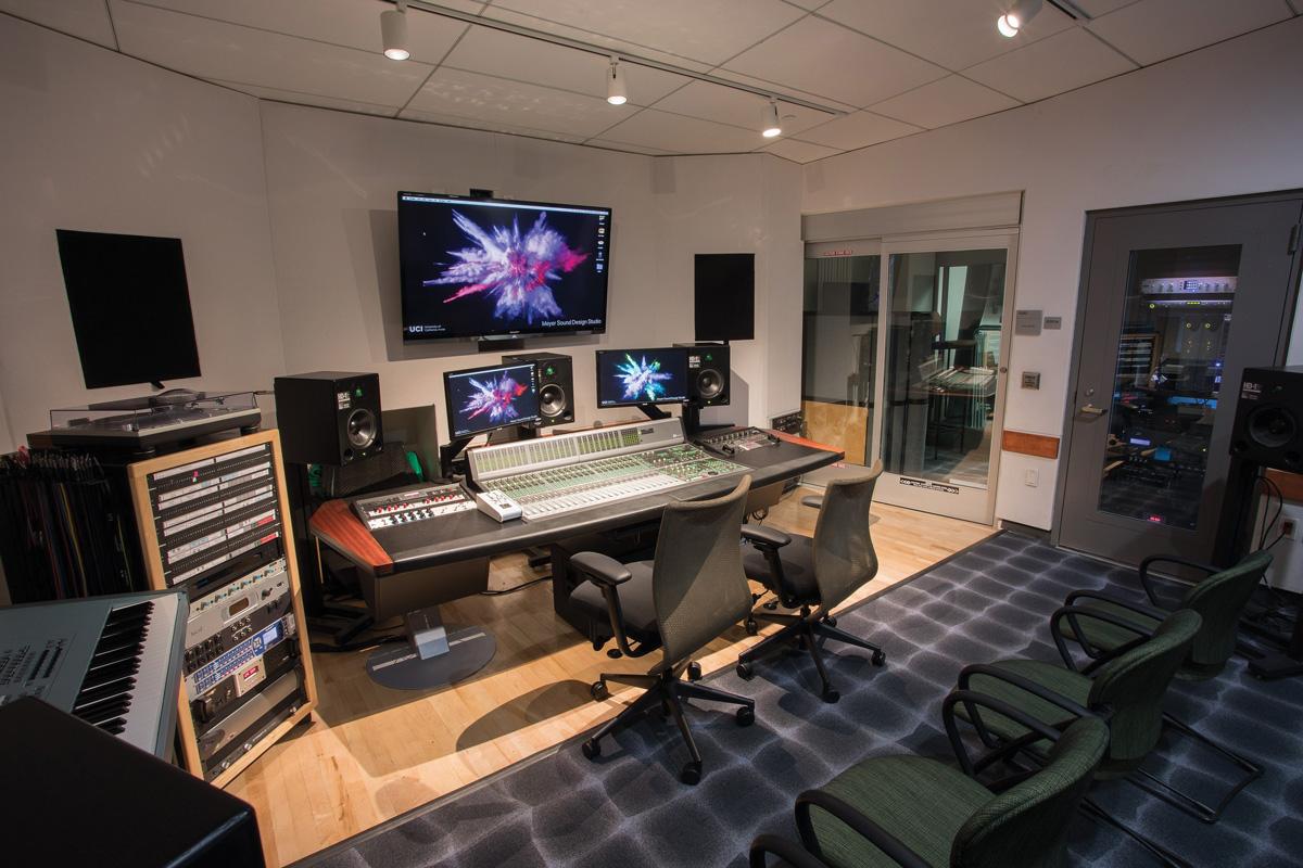 Image of the Meyer Sound Design Studio.